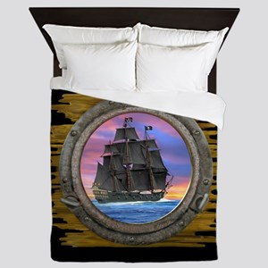 Black Sails of the 7 Seas Queen Duvet
