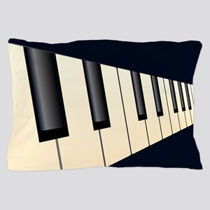 Piano Keys Perspective Pillow Case