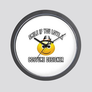 Smile If You Love Costume designer Wall Clock