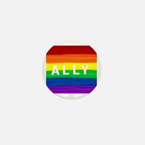 Cute Gay ally Mini Button