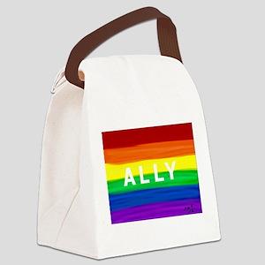 Ally gay rainbow art Canvas Lunch Bag