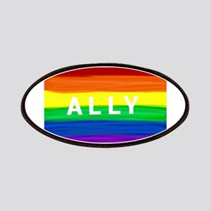 Ally gay rainbow art Patch