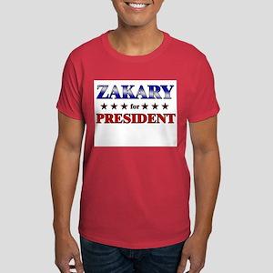 ZAKARY for president Dark T-Shirt