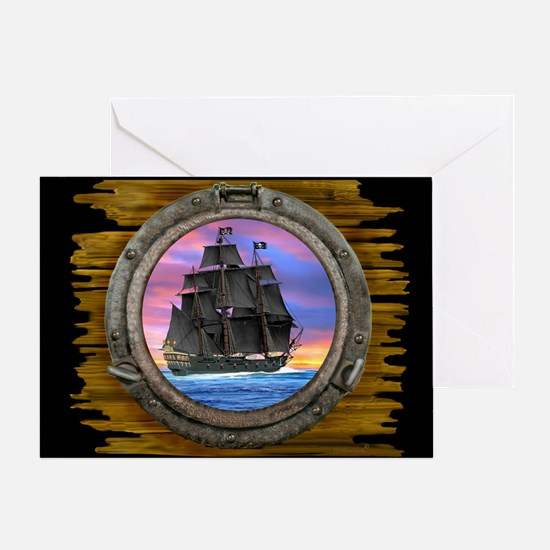 Black Sails of the 7 Seas Greeting Cards