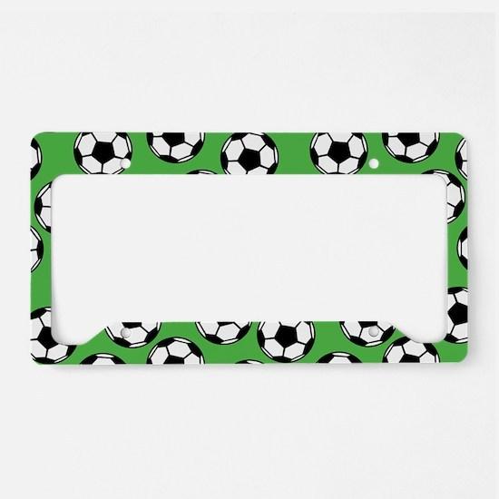 Soccer Ball Pattern License Plate Holder