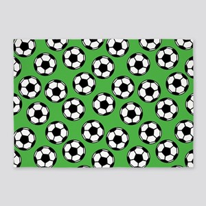 Soccer Ball Pattern 5'x7'Area Rug