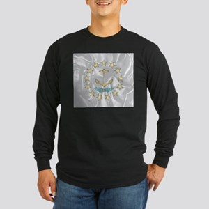 Rhode Island Silk Flag Long Sleeve T-Shirt