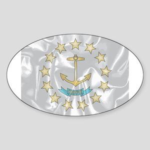 Rhode Island Silk Flag Sticker