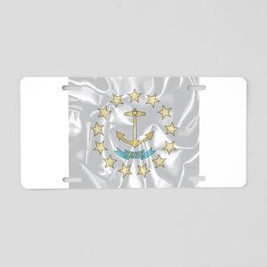 Rhode Island Silk Flag Aluminum License Plate