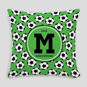 MONOGRAM Soccer Pattern Everyday Pillow