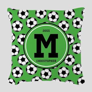 MONOGRAM Soccer Pattern Woven Throw Pillow