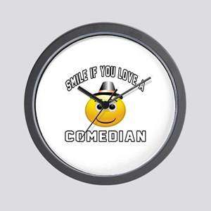 Smile If You Love Comedian Wall Clock