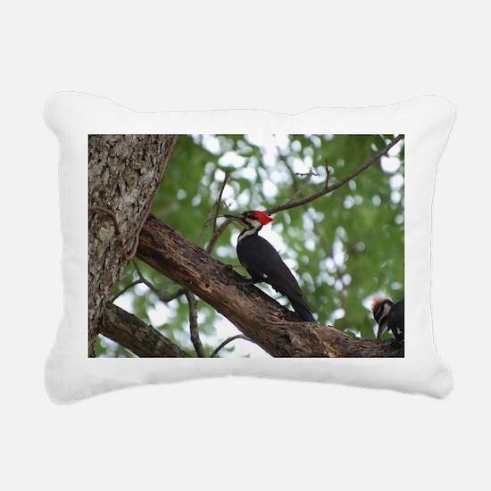 Unique Woodpecker Rectangular Canvas Pillow