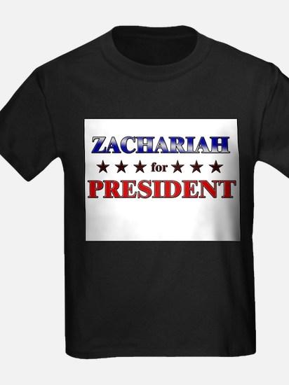 ZACHARIAH for president T