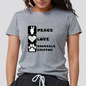 Peace Love Brussels Griffon T-Shirt