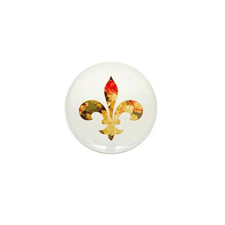 Floral Fleur de lis (3) Mini Button
