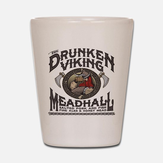 The Drunken Viking Mead Hall Shot Glass