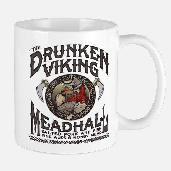 The Drunken Viking Mead Hall Mugs