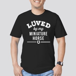 Miniature Horse Lover Men's Fitted T-Shirt (dark)