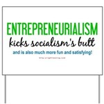 Entrepreneurialism anti-socialist Yard Sign