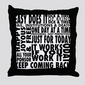 slogan-shirt Throw Pillow