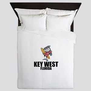 Key West, Florida Queen Duvet