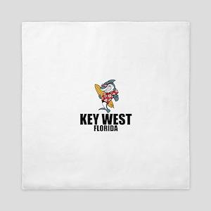 Key West, Florida Queen Duvet