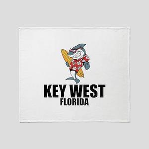 Key West, Florida Throw Blanket