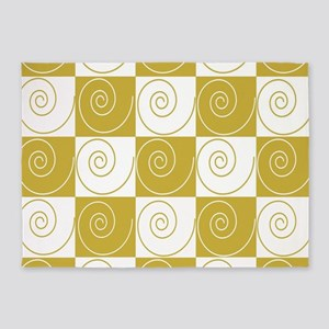 Mousey Mustard Tails 5'x7'Area Rug