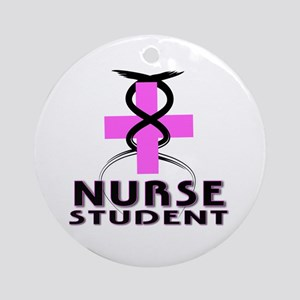 "Nurse ""Student In Pink"" Ornament (Round)"