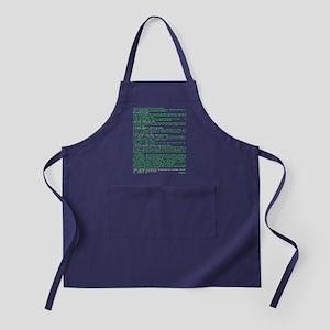 Hackers Manifesto Black Shirt Apron (dark)