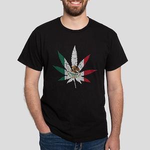 Vintage Flag of Mexico Pot Leaf T-Shirt