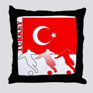 Turkey Soccer Throw Pillow