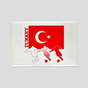 Turkey Soccer Rectangle Magnet