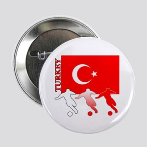 "Turkey Soccer 2.25"" Button (10 pack)"
