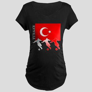 Turkey Soccer Maternity Dark T-Shirt