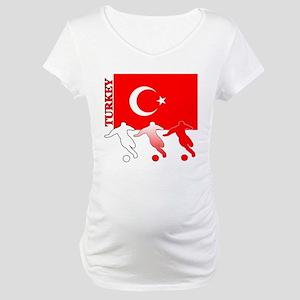 Turkey Soccer Maternity T-Shirt