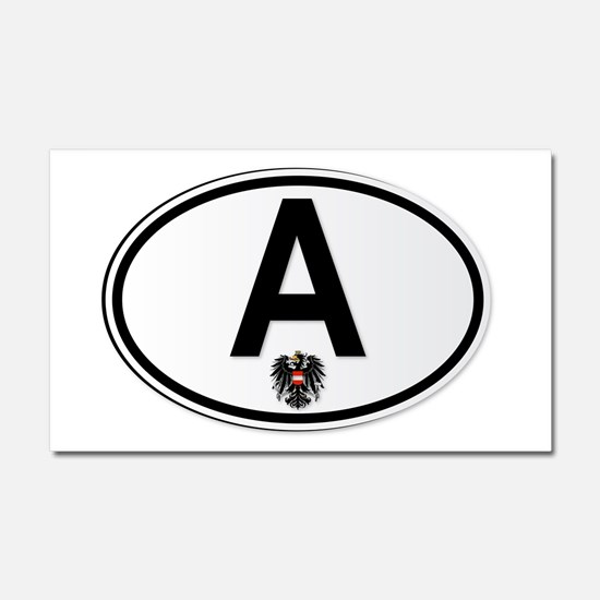 Cute Oval austria Car Magnet 20 x 12