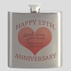 15th. Anniversary Flask