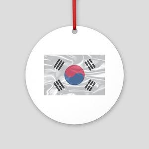 South Korean Silk Flag Round Ornament
