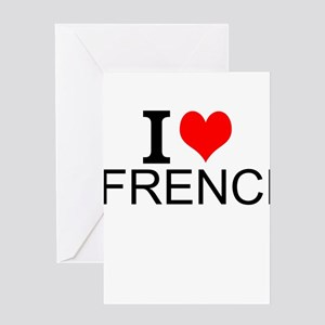 French teacher greeting cards cafepress i love french greeting cards m4hsunfo
