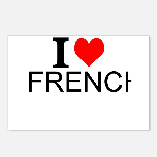 I Love French Postcards (Package of 8)