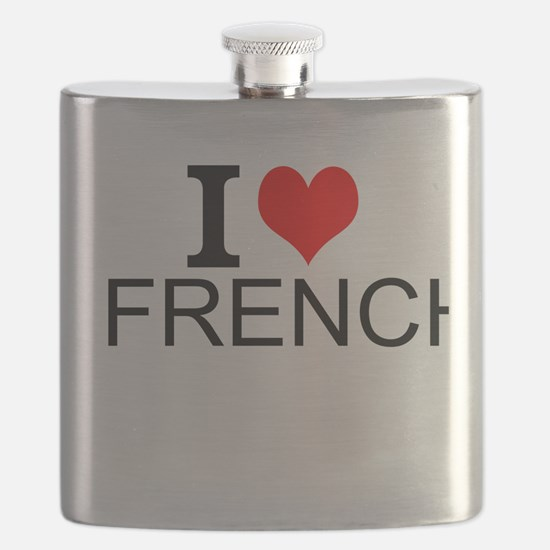I Love French Flask