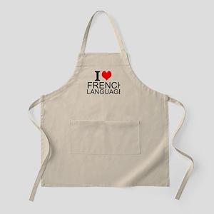 I Love French Language Apron