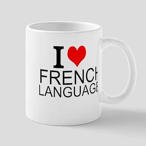I Love French Language Mugs