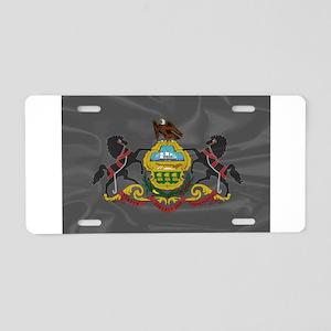 Pennsylvania Silk Flag Aluminum License Plate