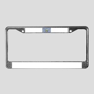 Vermont Silk Flag License Plate Frame