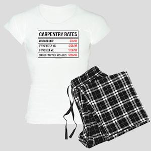 Carpentry Rates Women's Light Pajamas