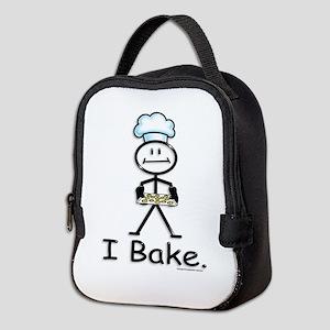 Baking Stick Figure Neoprene Lunch Bag