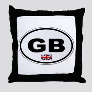 GB Plate Throw Pillow